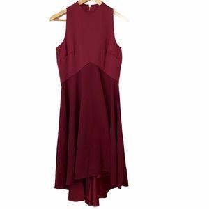 Ted Baker London Burgundy Kendall Hi Lo Dress